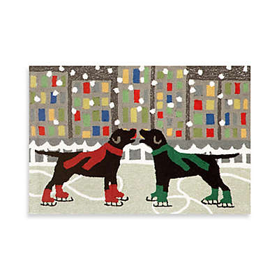 Holiday Dogs on Ice Indoor/Outdoor Rugs