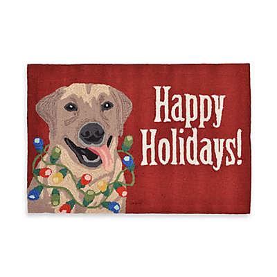 """""""Happy Holidays!""""  Indoor/Outdoor Rugs"""