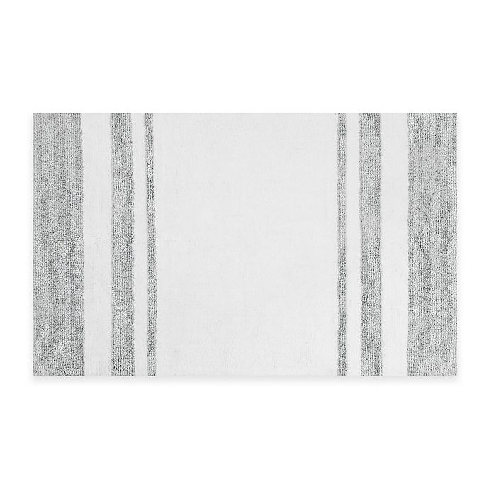 Alternate image 1 for Madison Park Spa Cotton 27-Inch x 45-Inch Reversible Cotton Bath Rug in Grey