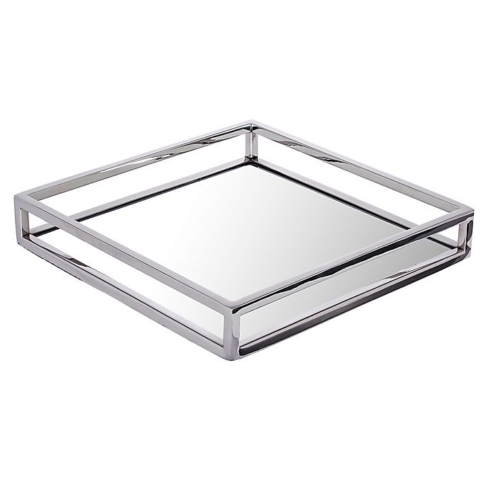 Alternate image 1 for Classic Touch Large Mirrored Tray