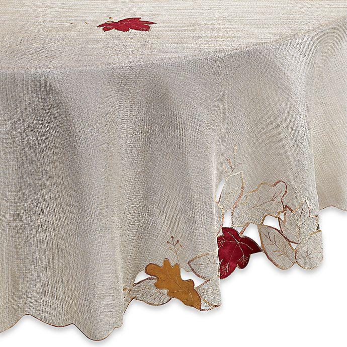 Alternate image 1 for Fall Foliage 70-Inch Round Tablecloth