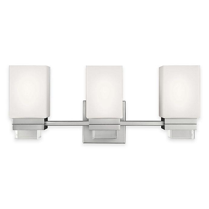 Alternate image 1 for Feiss® Maddison 3-Light Vanity Light in Satin Nickel