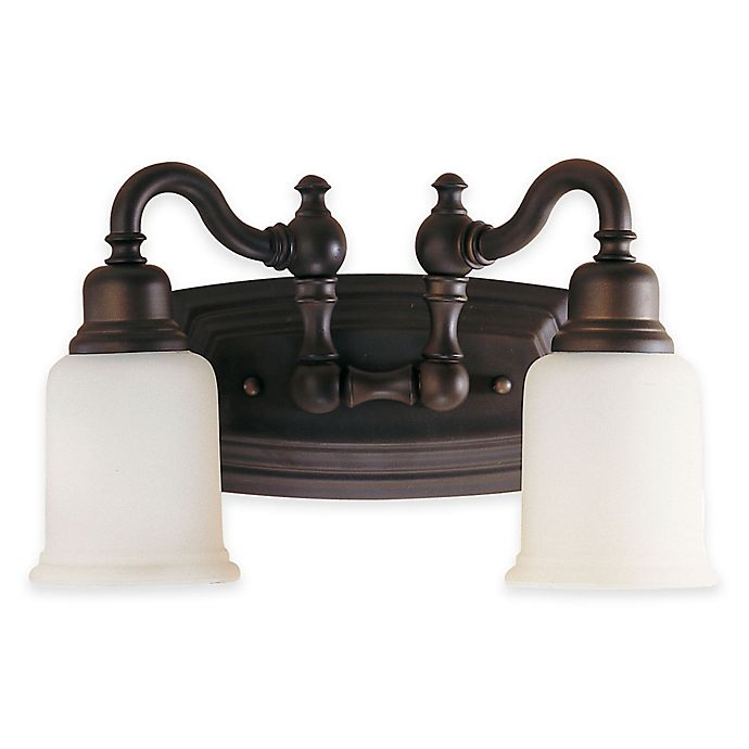 Alternate image 1 for Feiss® Canterbury 2-Light Bath Vanity Fixture in Oil-Rubbed Bronze