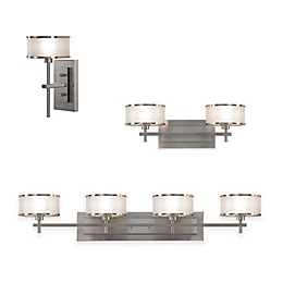 Sea Gull Collection by Generation Lighting Casual Bath Lighting Fixtures in Brushed Steel