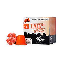 HiLine Coffee Times Square Dark Roast Espresso Capsules 10-Count