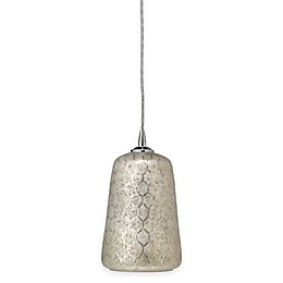 Lattice Bell 1-Light Pendant in Silver