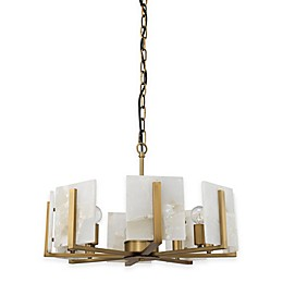 Halo 8-Light Chandelier in Alabaster