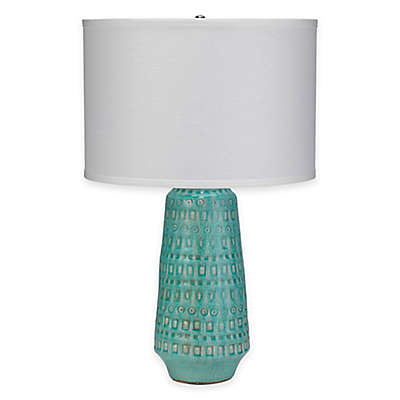 Jamie Young Coco Ceramic Table Lamp in Ocean