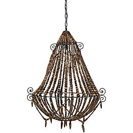 Tulum 3-Light Chandelier in Brown