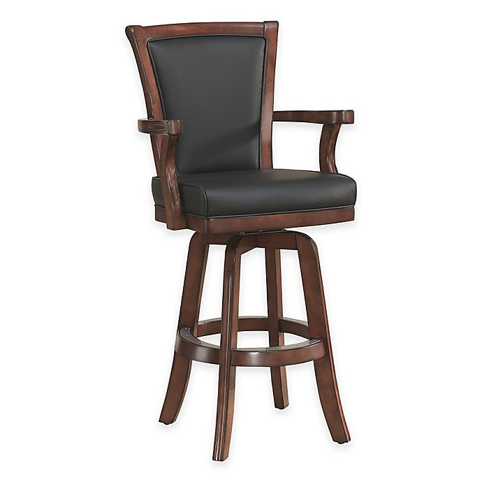 Fantastic American Heritage Auburn Bar Stool In Brown Suede Bed Bath Gmtry Best Dining Table And Chair Ideas Images Gmtryco
