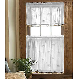 Heritage Lace® Dragonfly Window Curtain Tier with Trim