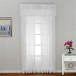 Seacoast Rod Pocket Window Curtain Panel in White (Single)