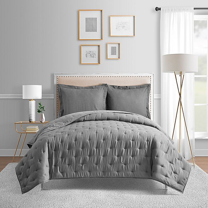Alternate image 1 for Bridge Street Blair Full/Queen Coverlet in Charcoal