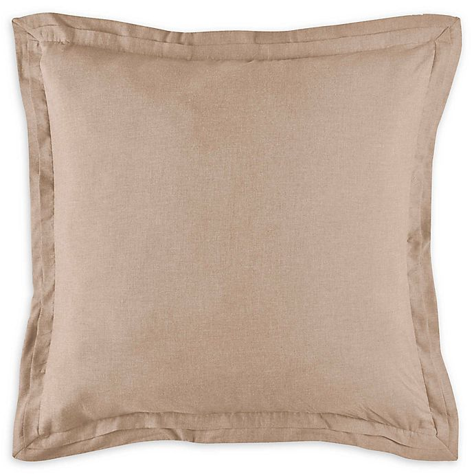 Alternate image 1 for Bridge Street Camille European Pillow Sham in Oatmeal