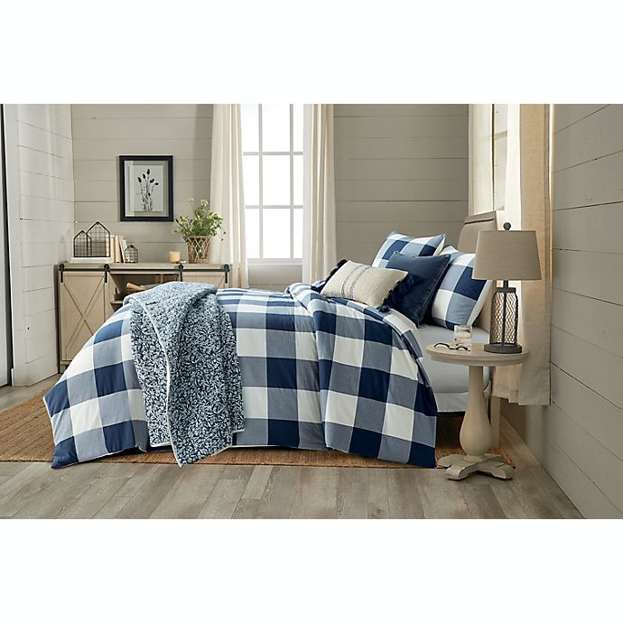 Alternate image 1 for Bee & Willow™ Home Yarn Dye Buffalo Check 3-Piece Comforter Set