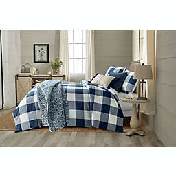Bee & Willow™ Home Yarn Dye Buffalo Check 3-Piece King Comforter Set in Navy