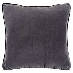 Bee & Willow™ Home Washed Velvet Square Throw Pillow in Charcoal