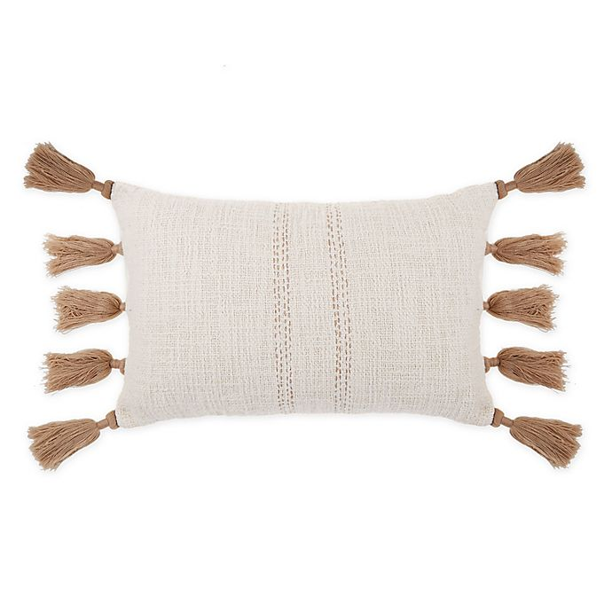 Alternate image 1 for Bee & Willow™ Home Woven Tassel Oblong Throw Pillow