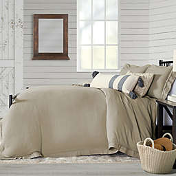 Bee & Willow™ Home Washed Layered Trim 3-Piece King Duvet Cover Set in Stone