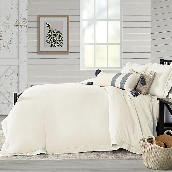 Alternate image 1 for Bee & Willow™ Home Washed Layered Trim 3-Piece Duvet Cover Set