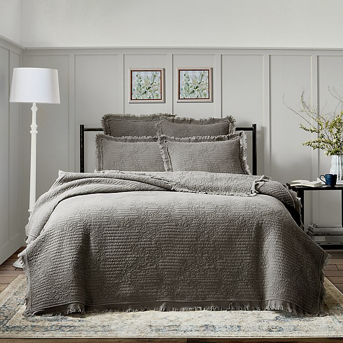 Alternate image 1 for Bee & Willow™ Home Raw Edge 3-Piece Quilt Set