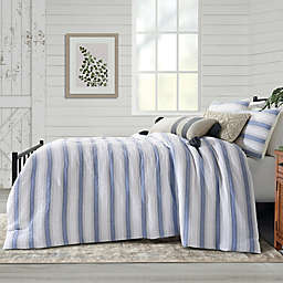 Bee & Willow™ Home Dash Stitch Stripe 3-Piece Full/Queen Duvet Cover Set in Navy Stripe