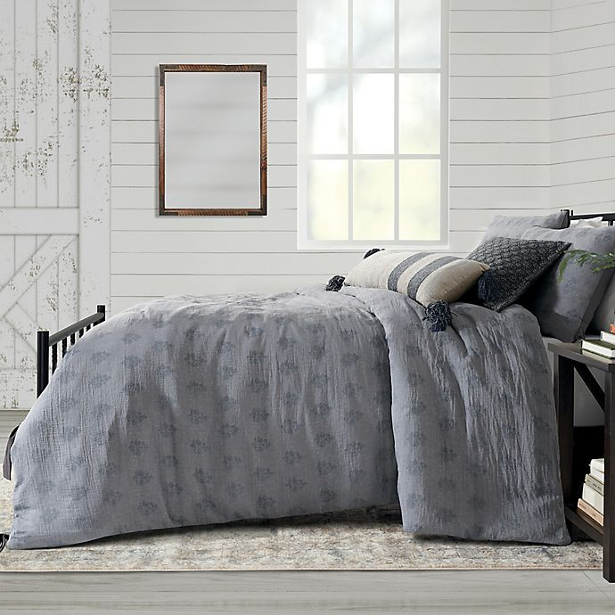 Alternate image 1 for Bee & Willow™ Home Block Print 3-Piece Full/Queen Comforter Set in Grey