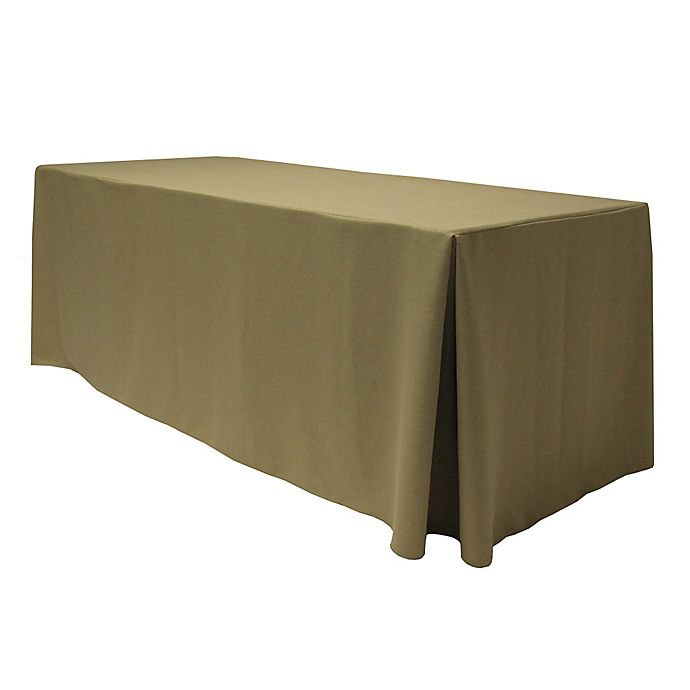 Alternate image 1 for Havana 30-Inch x 96-Inch Oblong Fitted Tablecloth in Natural
