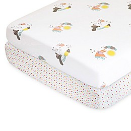 Nursery Works Wee Gallery Menagerie Organic Cotton Percale Crib Sheet