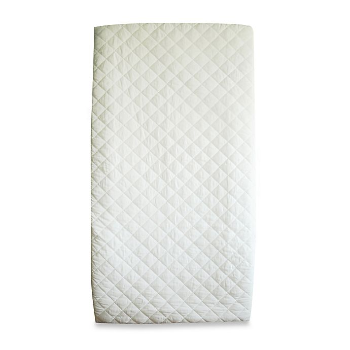 Alternate image 1 for BE Basic™ Waterproof Quilted Cotton Crib Mattress Pad