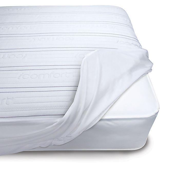 Serta 174 Icomfort Premium Comfort Stripe Crib Mattress Pad