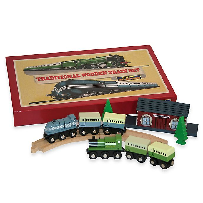 Alternate image 1 for Traditional Wooden Train Set