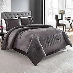 Lanco Huntley 4-Piece Comforter Set in Charcoal