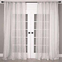Aura Striped Sheer Window Curtain Panel