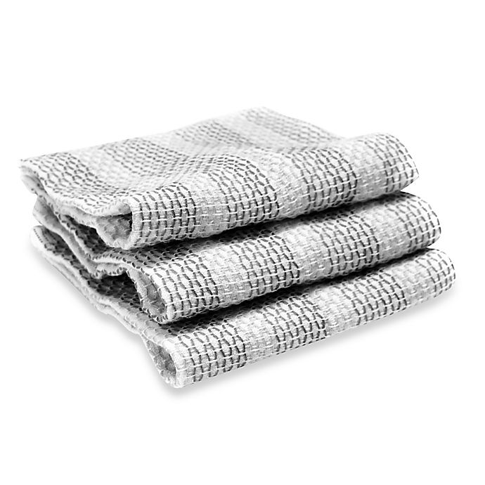 full circle tidy dish cloths in grey (set of 3)   bed bath and