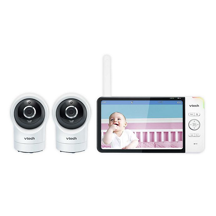 Alternate image 1 for VTech® RM7764-2HD 7-Inch Color LCD Smart Wi-Fi Baby Monitor with 2 Cameras