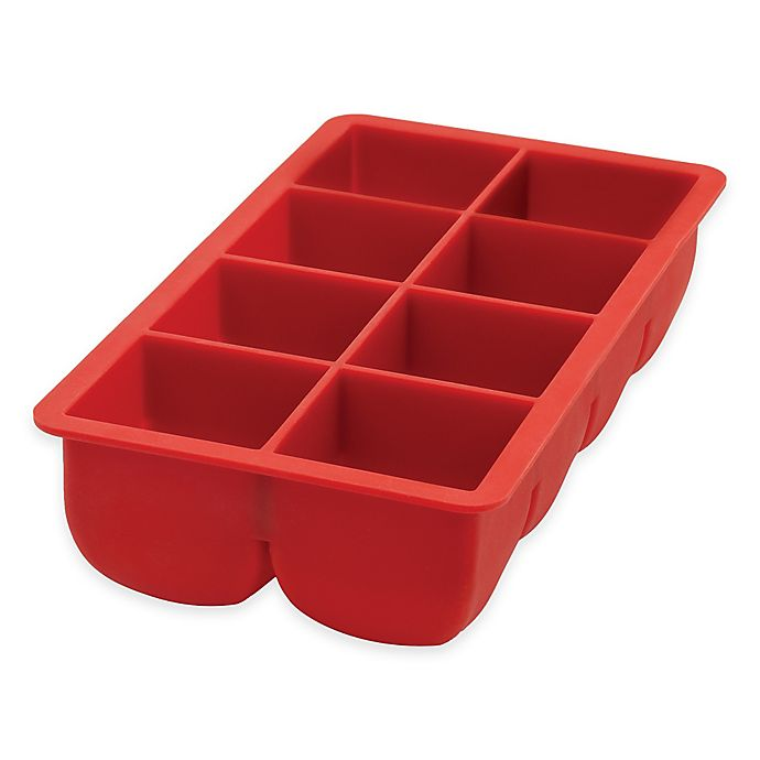 Alternate image 1 for Big Block Ice Cube Tray in Red