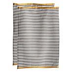 Hampton Stripe Kitchen Towels in Pewter (Set of 2)