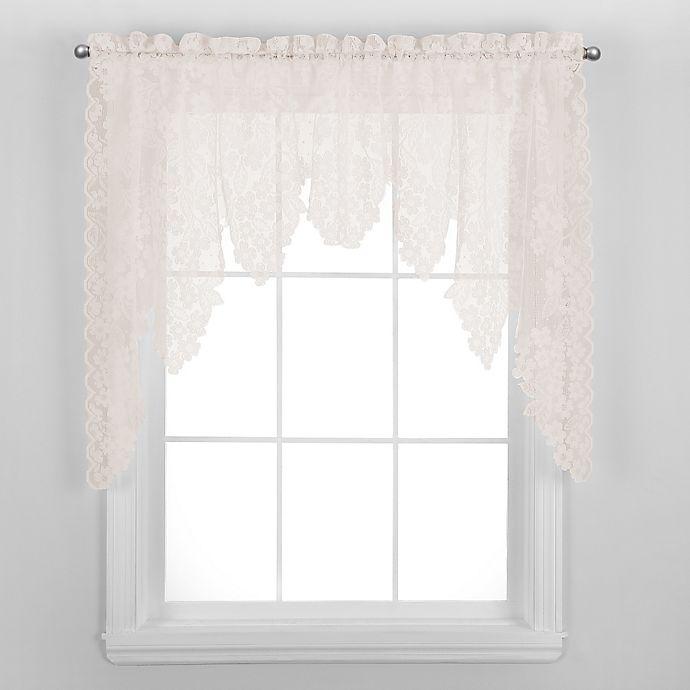 Alternate image 1 for Dogwood Window Swag in Ecru