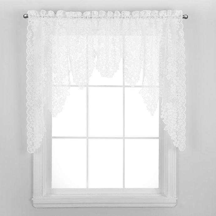 Alternate image 1 for Dogwood Window Swag in White