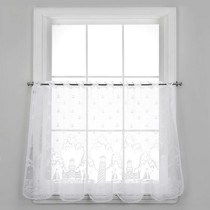 Alternate image 1 for Heritage Lace® Lighthouse 30-Inch Window Tier