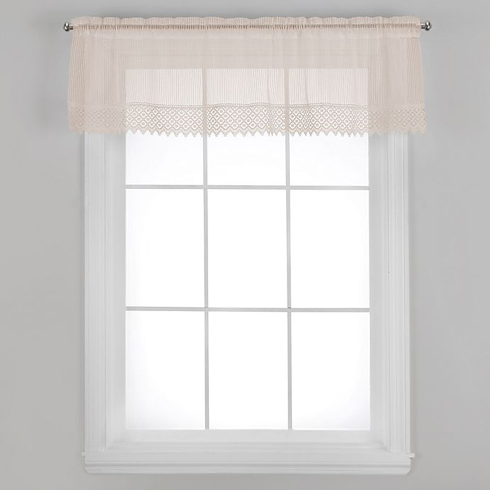 Alternate image 1 for Chelsea Window Valance with Trim in Ecru
