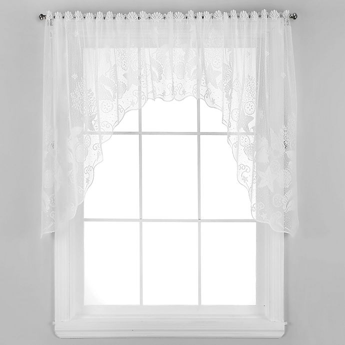 Alternate image 1 for Seascape Window Swag in White