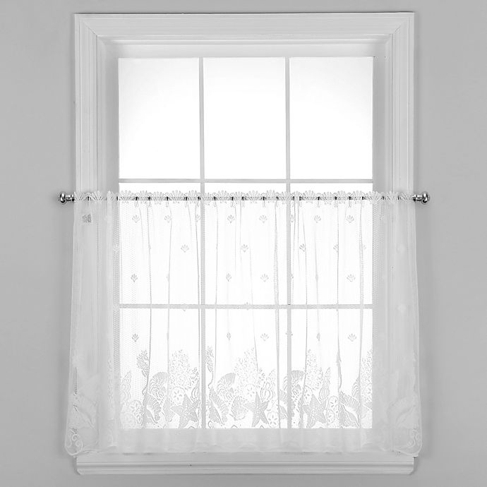 Alternate image 1 for Seascape 24-Inch Window Curtain Tier in White