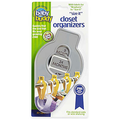 Baby Buddy 5-Piece Size-It Closet Organizer Set in Grey