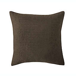 VCNY Home Paxton Square Throw Pillow in Chocolate