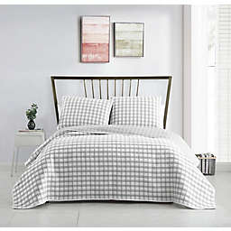 VCNY Home Tim Plaid Matelasse 3-Piece Quilt Set