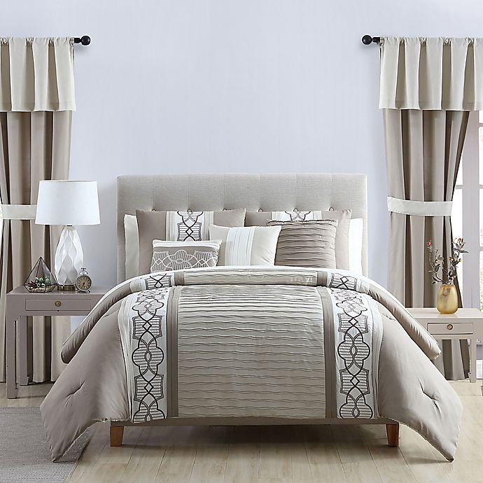 Alternate image 1 for VCNY Home Darryl 20-Piece Comforter Set in Taupe