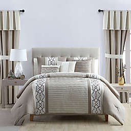 VCNY Home Darryl 20-Piece King Comforter Set in Taupe