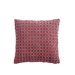 VCNY Home Piper Square Throw Pillow in Black/Red
